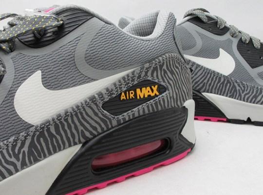 Nike Air Max 90 CMFT Tape – Grey Zebra – Yellow – Pink