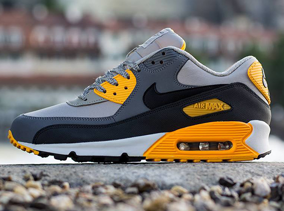 on sale 3f0e6 ba700 Nike Air Max 90 Essential - Pale Grey - Black - Anthracite - Orange -  SneakerNews.com