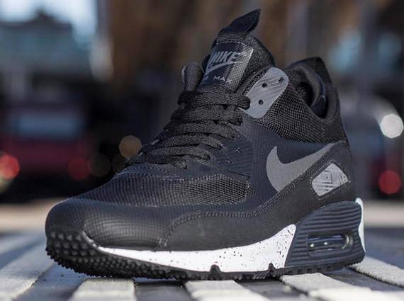 Nike Air Max 90 SneakerBoot Black Dark Charcoal White