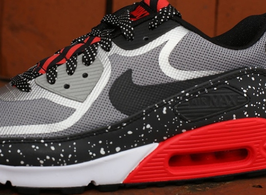 Nike Air Max 90 Tape – Grey – Black – Challenge Red   Available