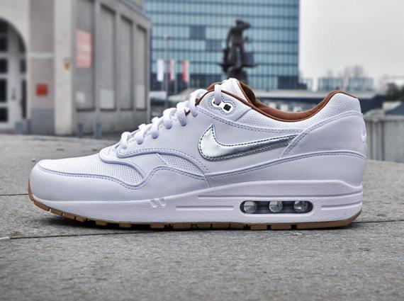 Nike Air Max 1 Metallic Silver Blue White larger image