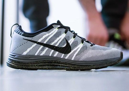 Nike Flyknit Lunar1+ – White – Black – Dark Grey – Volt