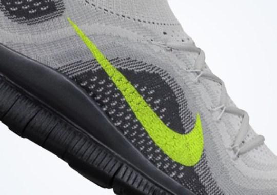 Nike Free Flyknit+ – Pure Platinum – Volt – Wolf Grey
