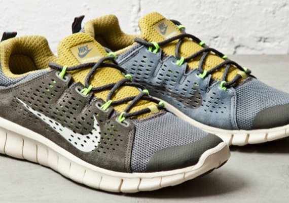 Nike Free Powerlines+ II – Olive – Yellow – Grey