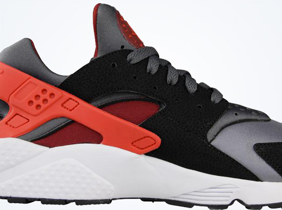 38c8d85b19b3 Nike Air Huarache - Dark Grey - Challenge Red - Black - SneakerNews.com
