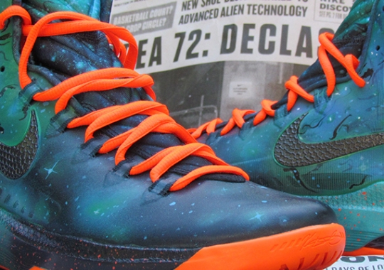 """Nike KD 5 """"Area 72 Remix"""" by JustWin Customs"""