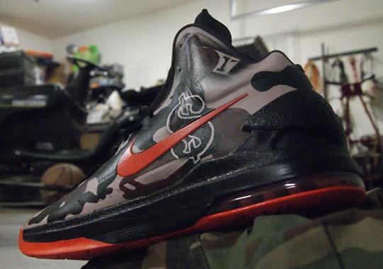 "Nike KD V ""@easymoneysniper"" by AMAC Customs for Kevin Durant"