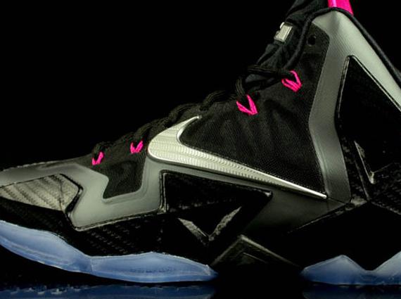 Nike LeBron 11 Black Pink Volt
