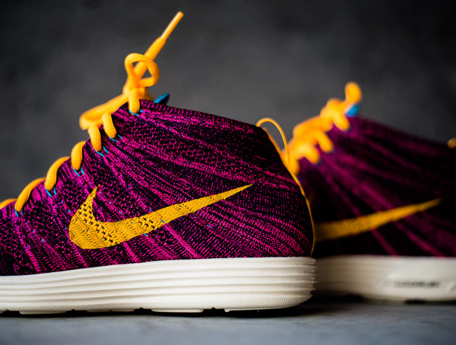 timeless design 44780 25e99 Nike Lunar Flyknit Chukka - Grand Purple - Total Orange  Available -  SneakerNews.com