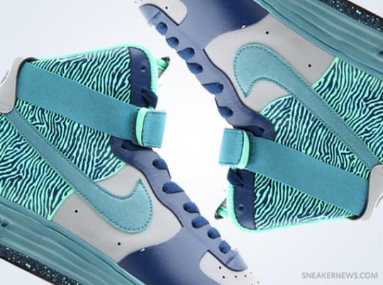 Nike Lunar Force 1 NS Hi PRM – Silver – Mineral Teal