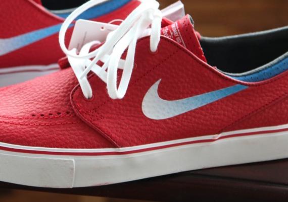 salida mejores precios moda barata Nike Sb Zoom Stefan Janoski Blanco Rojo Y Azul DChvSSud