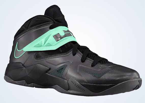 best service 6bb7a 128a8 Nike Zoom LeBron Soldier 7 – Black – Green Glow. October 10 ...