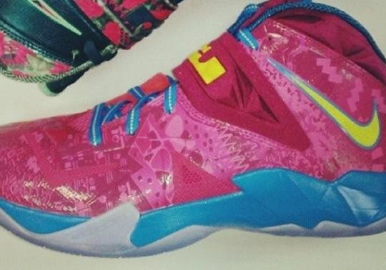 Nike Zoom LeBron Soldier 7 – Pink – Yellow – Blue