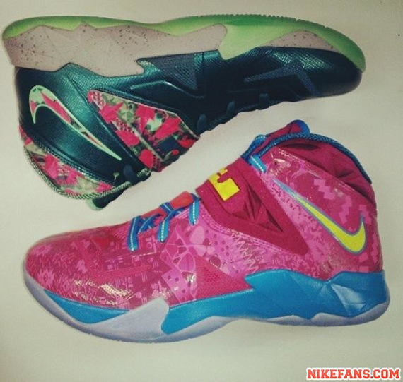 2a867305bb5 Nike Zoom LeBron Soldier 7 - Pink - Yellow - Blue - SneakerNews.com
