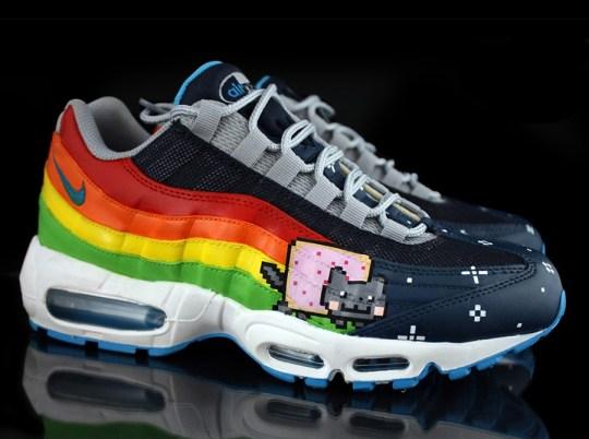 """Nike Air Max 95 """"Nyan Cat"""" by Revive Customs"""