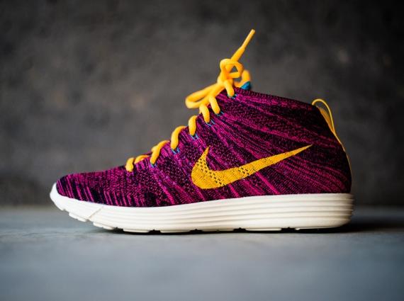 newest 96f4f 13ceb Nike Lunar Flyknit Chukka Color: Black/Laser Orange-Grand Purple-Neo  Turq-Pink Flash-Sail Style Code: 554969-085. Release Date: 10/26/13