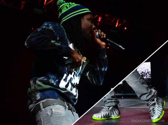 """promo code 71c16 778c8 Wale in Nike Air Foamposite One """"Silver Lime"""""""