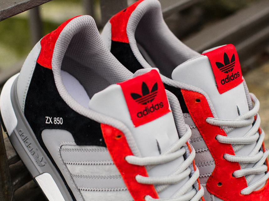 timeless design d70b8 669ce adidas Originals ZX 850 – Aluminum – Hi Res Red