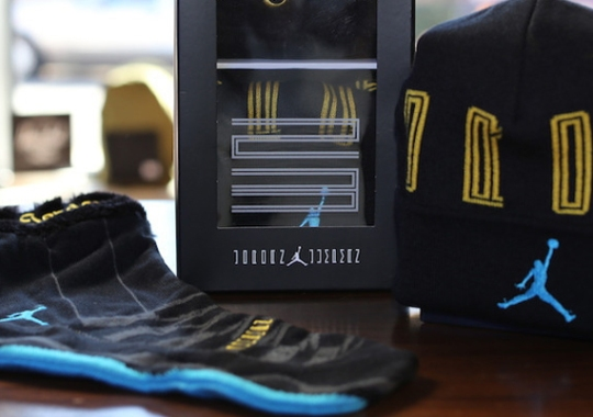 "Air Jordan 11 ""Gamma Blue"" – Beanie + Stocking Set"