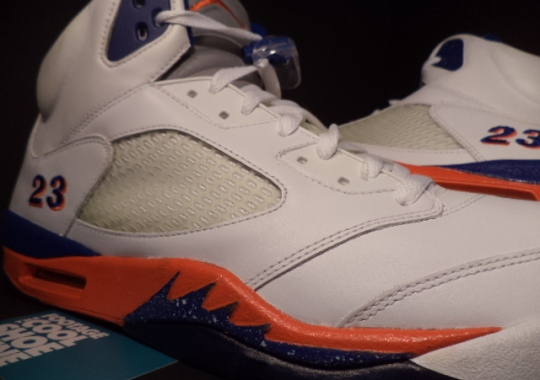 Air Jordan 5 – Quentin Richardson Knicks Home PE on eBay