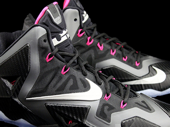 """Carbon Fiber"" Nike LeBron 11 – Black – Metallic Silver – Dark Grey – Pink Flash"