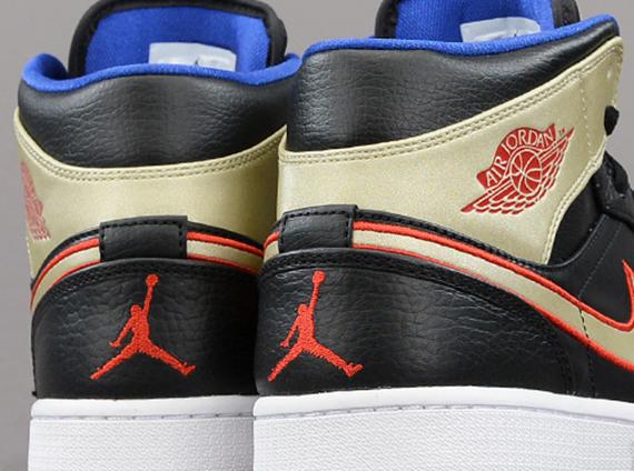 Air Jordan 1 Mid Blue And Red