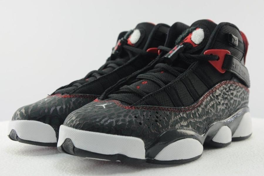 Nike Air Jordan 6 Rings WHITE/VARSITY RED-MTLLC BLACK US