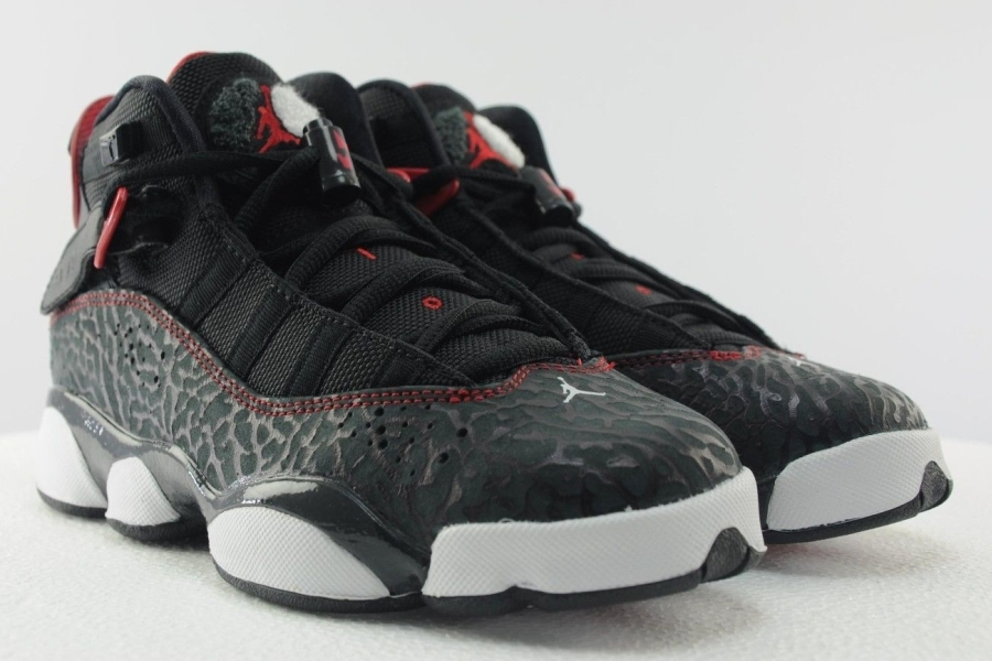 huge selection of 9911d a0c12 sale jordan 6 rings gs color black gym red white style code 323419 020  08360 262cd
