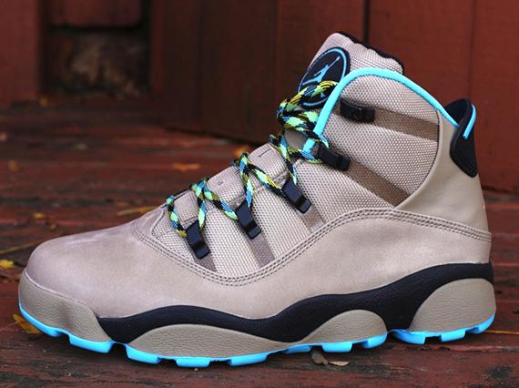e7fac6b7e46676 Jordan Winterized 6 Rings Color  Khaki Black-Varsity Maize-Gamma Blue Style  Code  414845-204