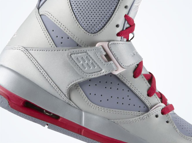 purchase cheap cef83 2c6c9 Jordan Flight 45 High - Metallic Platinum - Arctic Pink - Pebble Grey -  SneakerNews.com
