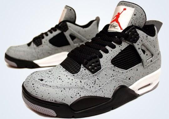 "Air Jordan 4 ""Cement Flip"" Customs by PKZUNIGA"