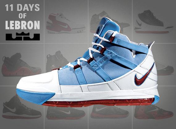 11 Días De Nike Iii Lebron El Zoom Lebron Iii Nike 0bfa18