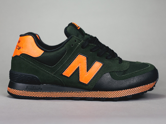 new balance 574 orange and black