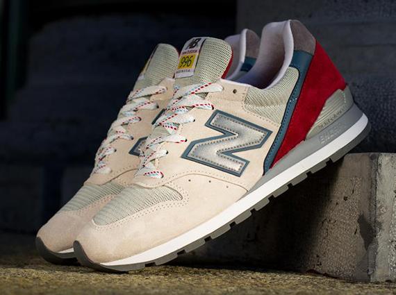 new balance 996 beige red