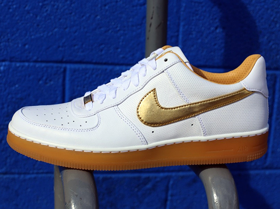 Nike Air Force 1 Downtown PRM White Metallic Gold