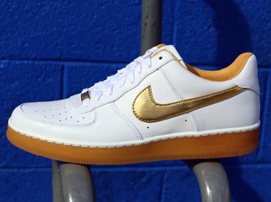 Nike Air Force 1 Downtown PRM – White – Metallic Gold