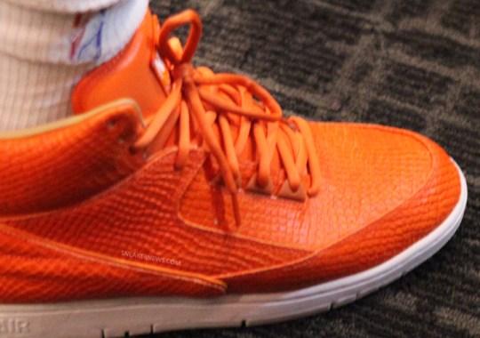 """Nike Air Python """"Orange"""" – J.R. Smith PE"""