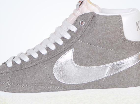 best loved 0cd0c 39a45 Nike Blazer Mid PRM – Granite – Metallic Silver – White