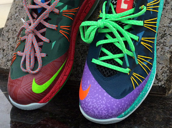 "huge discount 8faf6 48630 Nike LeBron 10 Low ""What The MVP"" by CWhitt Customs"