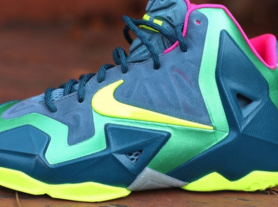 best authentic 466b0 b9141 Among the releases on the huge sneaker day that is Black Friday is the  first ever kids-only drop for the Nike LeBron line. The Nike LeBron 11 T- Rex showed ...