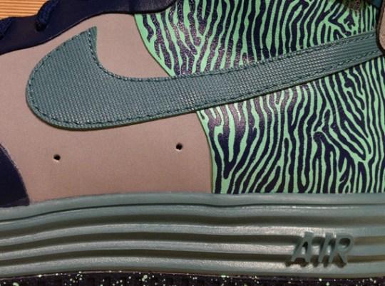"""Nike Lunar Force 1 Hi """"Zebra"""" – Silver – Mineral Teal – Navy"""