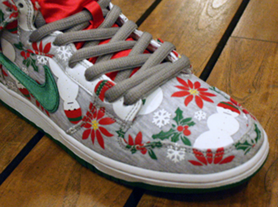 """1624c561d90 The Nike SB Dunk High """"Ugly Christmas Sweater"""" will release on December  14th"""