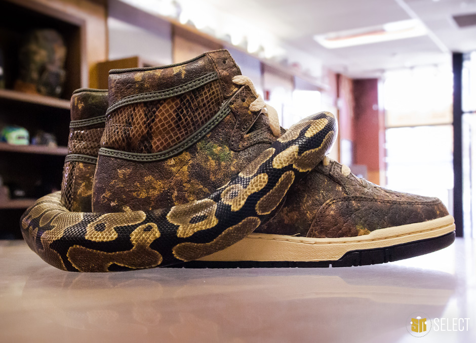 a9b66a46e6b5 SN  Camouflage and snakeskin have both been heavily used in sneaker designs  in the last few years. Is it possible for such timeless elements to go out  of ...