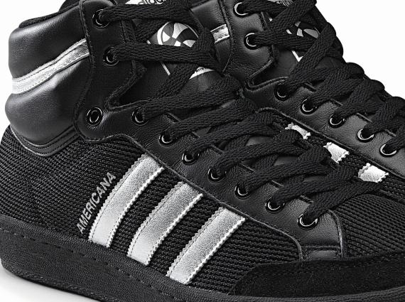 bc648e1d06b93c adidas Originals Americana Hi 88 - Black - Metallic Silver - SneakerNews.com