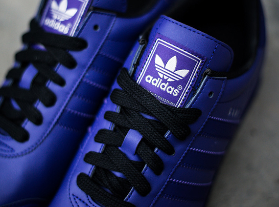 adidas samoa white and purple