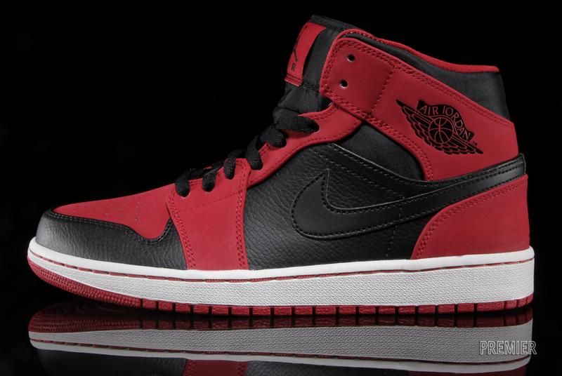 5e545f83bdd Air Jordan 1 Mid - Gym Red - Black | Available - SneakerNews.com