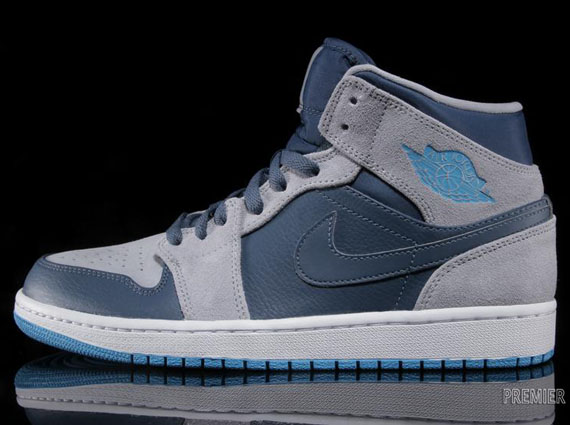 air jordan 1 blue white grey