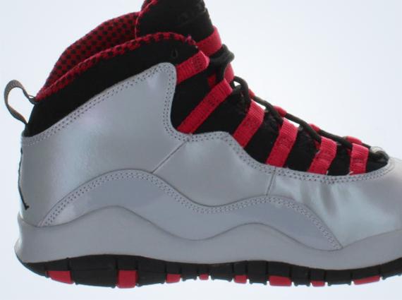 air jordan 10 wolf grey red and black