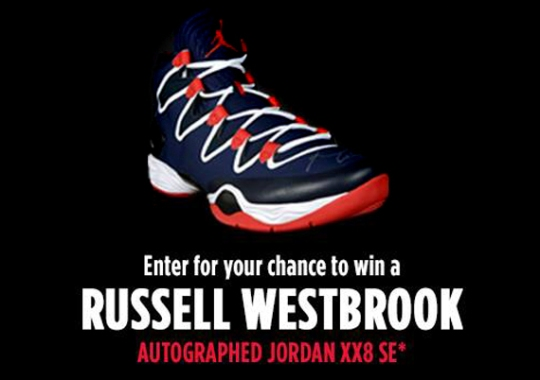 "Air Jordan XX8 SE Autographed by Russell Westbrook – Foot Locker ""23 Days of Flight"" Giveaway"
