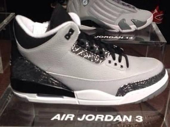 68ce749df1b2 Air Jordan 3 Retro - Wolf Grey - Metallic Silver - Black - White ...